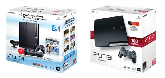 PS3 160GB and 320GB