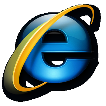 IE Logo Ugly Black PNG Background