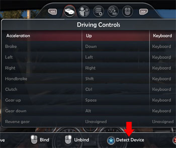TDU2 Controls detect device