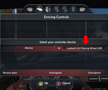 TDU2 Controls select wheel