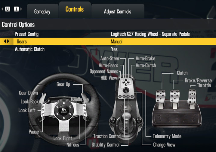 Shift 2 controls