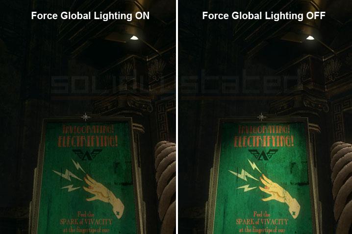 Bioshock 2 lighting comparison