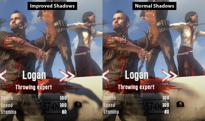 improved shadows example
