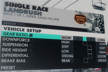 dirt3 vehicle setup