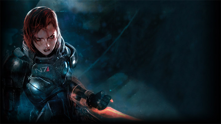 Female Shepard artwork